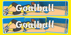 The Paralympics Goalball Display Banner