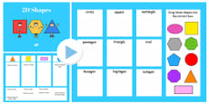 Properties of 2D Shapes Sorting Activity Flipchart