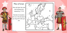 Spread of the Roman Empire Map Activity Sheet