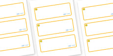 Welcome to our class- Smiley Face Themed Editable Drawer-Peg-Name Labels (Blank)