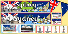 Sydney Tourist Information Office Role Play Pack
