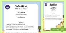 * NEW * Safari Dust Edible Sensory Recipe