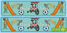 Outdoor Toys Display Banner