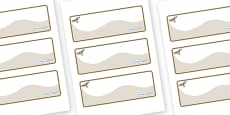 Red Kite Themed Editable Drawer-Peg-Name Labels (Colourful)