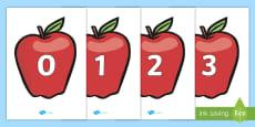 Numbers 0-20 on Apples