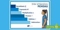 Order of Operations Stair Model Display Poster
