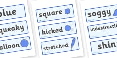 Word Cards to Support Teaching on The Blue Balloon
