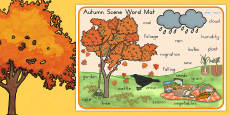 Australia - Autumn Scene Word Mat