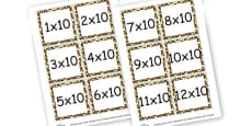 10 Times Tables Questions Cards