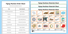4th Grade Flying Machines Column Addition Activity Pack
