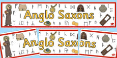 Anglo Saxons Display Banner