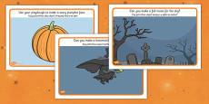 Halloween Playdough Mats Polish Translation