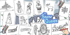 The Snow Queen Colouring Sheets