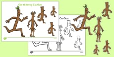 Size Ordering Cut Outs to Support Teaching on Stick Man