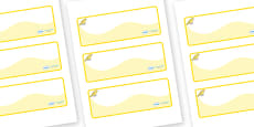 Canary Themed Editable Drawer-Peg-Name Labels (Colourful)