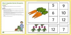 Oliver's Vegetables Number Recognition Busy Bag Resource Pack for Parents
