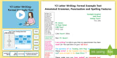 * NEW * Y2 Letter Writing: Formal Model/Example Text