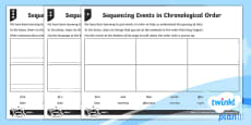 Sequencing Events in Chronological Order Home Learning Tasks