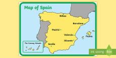 Spain Display Map