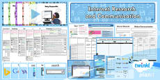 PlanIt - Computing Year 3 - Internet Research and Communication Unit Pack