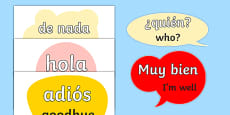 Spanish Word Posters