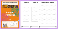 * NEW * KS1 Maths Rangoli Patterns Activity Pack
