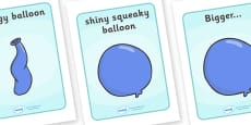 Visual Aids to Support Teaching on The Blue Balloon