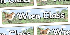 Wren Themed Classroom Display Banner