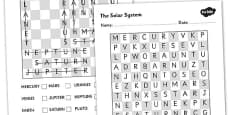 Solar System Wordsearch