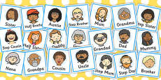 Family Members Role Play Badges