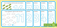 Number Playdough Mats (11-20)