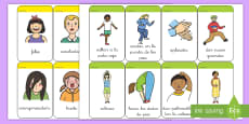 * NEW * Tarjetas de vocabulario: Emociones y acciones