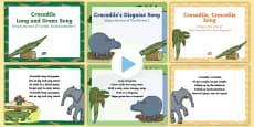 EYFS Songs and Rhymes PowerPoints Pack to Support Teaching on The Enormous Crocodile