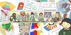 After School Club Activity Resource Pack