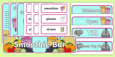 Smoothie Bar Role Play Pack