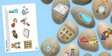 Toys Story Stones Image Cut Outs