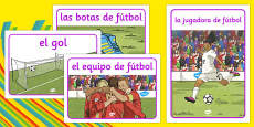 Rio 2016 Olympics Football Display Posters Spanish