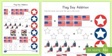 Flag Day Addition Activity