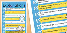 Text Types Guide Explanations Display Poster