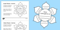 MFL German Colour Flowers Activity Sheet