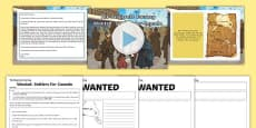 Wanted: Settlers for Canada to Support Teaching on The Desperate Journey Presentation Pack