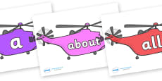 100 High Frequency Words on Helicopters
