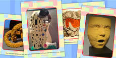 Building Brick Art Display Photos