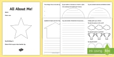 * NEW * LKS2 All About Me Transition Booklet English