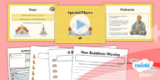 PlanIt - RE Year 4 - Buddhism Lesson 3: Special Places Lesson Pack