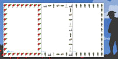 Australia - Remembrance Day Page Borders