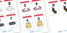 Number Bonds to 9 Matching Cards (Clothing)