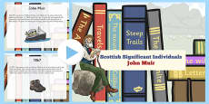 Scottish Significant Individuals John Muir PowerPoint