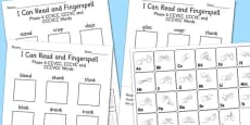 I Can Read and Fingerspell Phase 4 CCVCC, CCCVC and CCCVCC Words Activity Sheet Pack