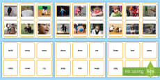 * NEW * Verbs Photos Matching Cards